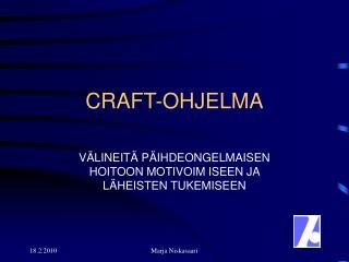 CRAFT-OHJELMA