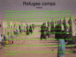 Refugee camps mason