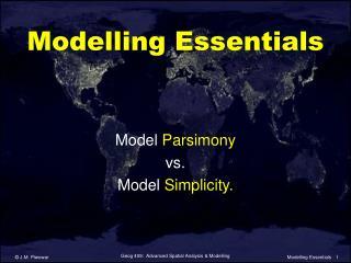 Modelling Essentials