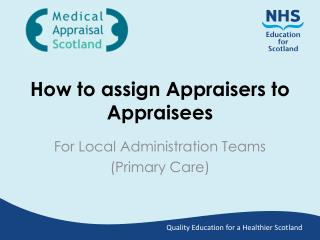 How to assign Appraisers to Appraisees