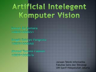Artificial  Intelegent Komputer  Vision