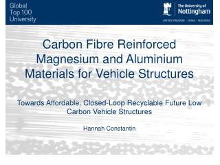 Carbon Fibre Reinforced Magnesium and  Aluminium  Materials for Vehicle Structures