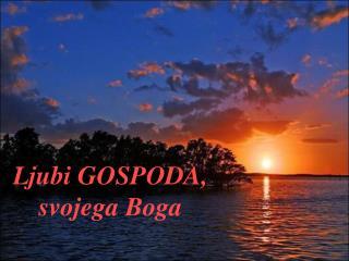 Ljubi GOSPODA, svojega Boga