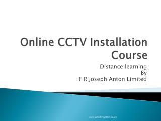 Online CCTV Installation Course