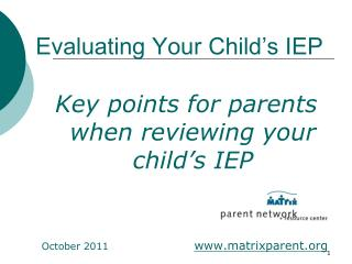 Evaluating Your Child's IEP