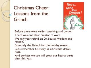 Christmas Cheer: Lessons from the Grinch