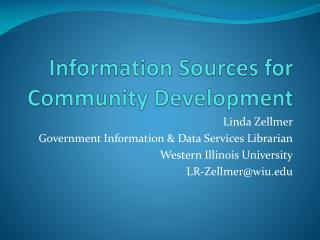 Information Sources for Community Development