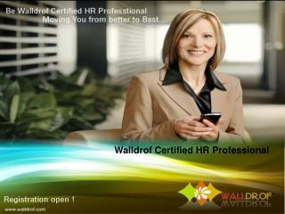Walldrof Certified HR Professional