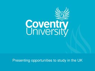 Presenting opportunities to study in the UK