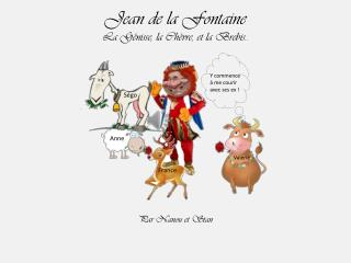 Jean de la Fontaine La Génisse, la Chèvre, et la Brebis..