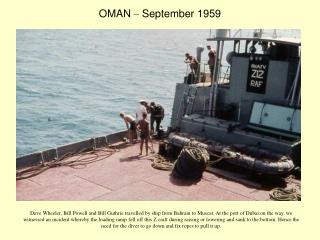 OMAN  –  September 1959