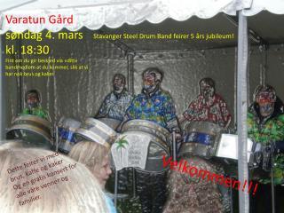 Stavanger Steel  Drum  Band feirer 5 års jubileum!