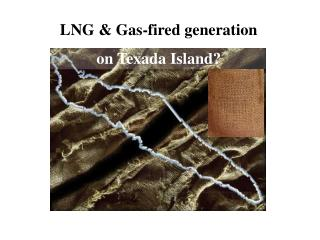 LNG & Gas-fired generation  on Texada Island?