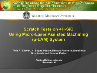 Scratch Tests on 4H-SiC  Using Micro-Laser Assisted Machining ( ? -LAM) System