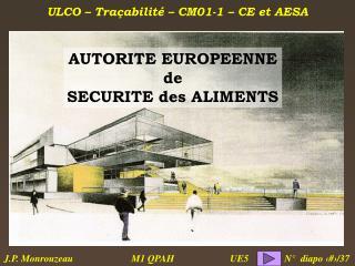 AUTORITE EUROPEENNE de SECURITE des ALIMENTS