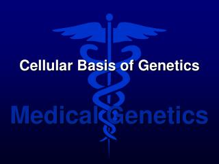 Cellular Basis of Genetics