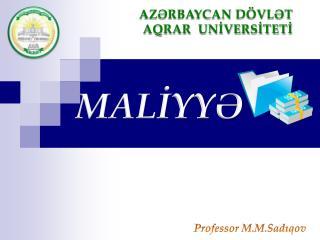 MALİYYƏ
