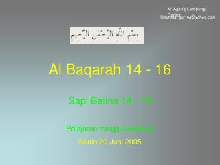 Al Baqarah 14 - 16