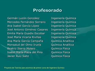 Profesorado