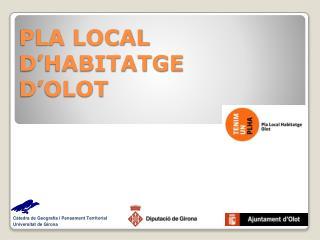 PLA LOCAL D'HABITATGE D'OLOT