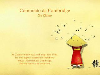 Commiato da Cambridge Xu Zhimo