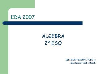 EDA 2007