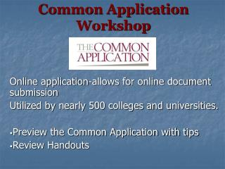 Common Application Workshop