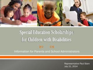 Special Education Scholarships  for Children with Disabilities