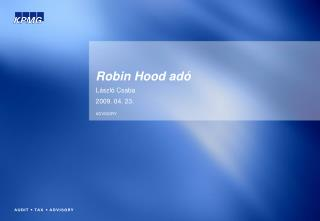 Robin Hood adó