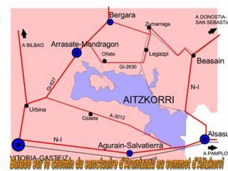 Balade sur le chemin du sanctuaire d'Arantzazu au sommet d'Aitzkorri