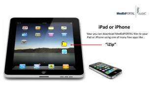 Now you can download MedEdPORTAL files to your iPad or iPhone using one of many free apps like…