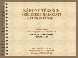 Fleischer Tamás MTA Világgazdasági Kutatóintézet vki.hu/~tfleisch/ tfleisch@vki.hu