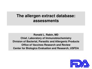 The allergen extract database: assessments