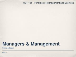 Managers  Management