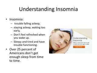 Understanding Insomnia