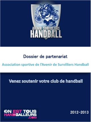 Dossier de partenariat Association sportive de l'Avenir de Survilliers Handball