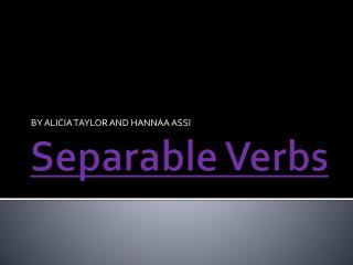 Separable Verbs
