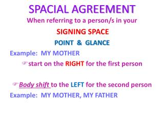 SPACIAL AGREEMENT