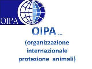 OIPA  … (organizzazione  internazionale  protezione  animali)