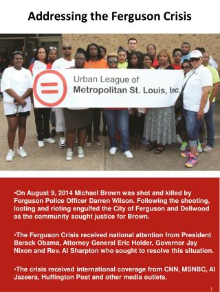 Addressing the Ferguson Crisis