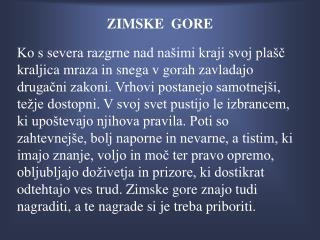 ZIMSKE  GORE
