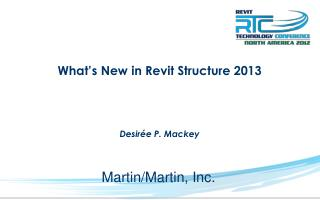 What's New in Revit Structure 2013