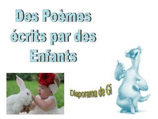 Des Poèmes écrits par des Enfants