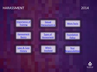HARASSMENT        2014