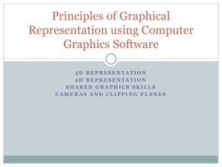 Principles of Graphical Representation using Computer Graphics Software