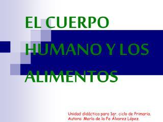 EL CUERPO HUMANO Y LOS ALIMENTOS
