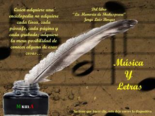 Música  Y  Letras