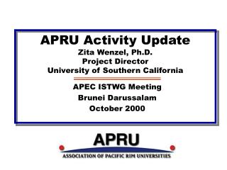 APRU Activity Update