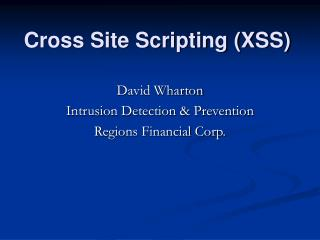 Cross Site Scripting XSS