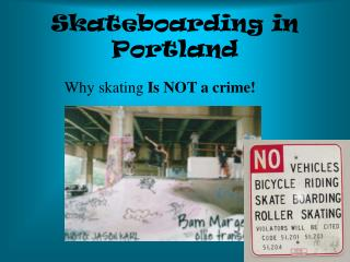 Skateboarding in Portland